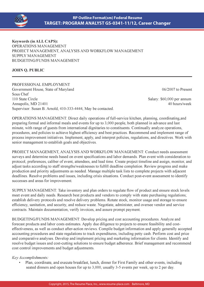 federal resume samples place personal security sample for warehouse supervisor position Resume Personal Security Resume