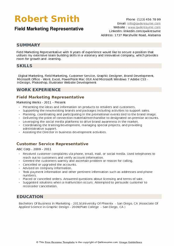 field marketing representative resume samples qwikresume areas of growth for pdf good Resume Areas Of Growth For Resume