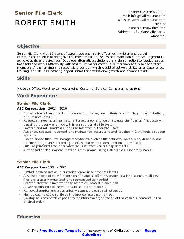 file clerk resume samples qwikresume sample pdf assistant controller occupational therapy Resume File Clerk Resume Sample