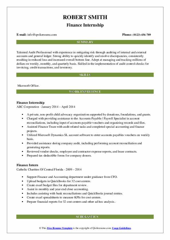 finance intern resume samples qwikresume job description for pdf accounting assistant Resume Finance Intern Job Description For Resume