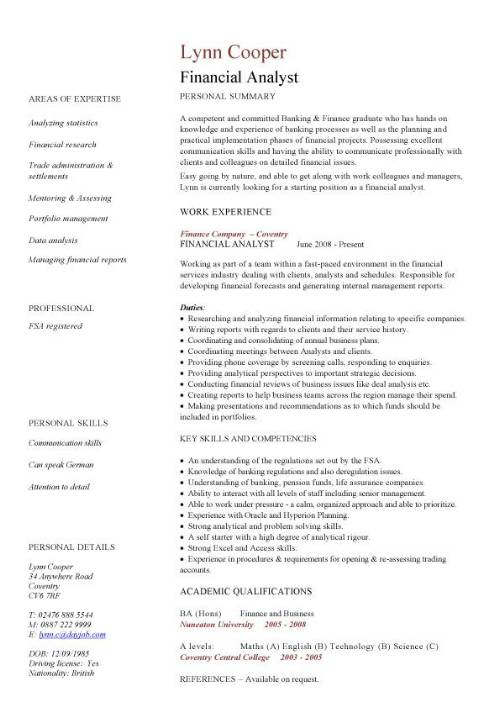 financial analyst cv sample interrogating data services resume pic well designed examples Resume Financial Services Resume