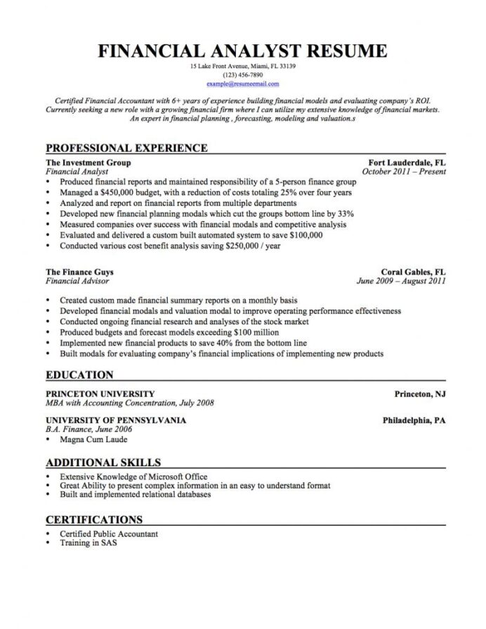 financial analyst resume samples templates tips by builders medium objective Resume Financial Analyst Resume Objective