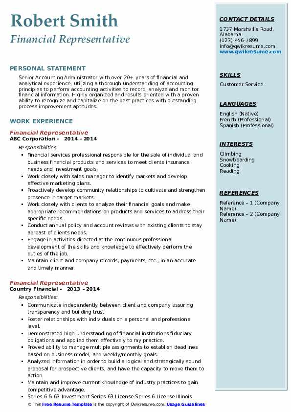 financial representative resume samples qwikresume fidelity investments pdf pageant judge Resume Fidelity Investments Resume