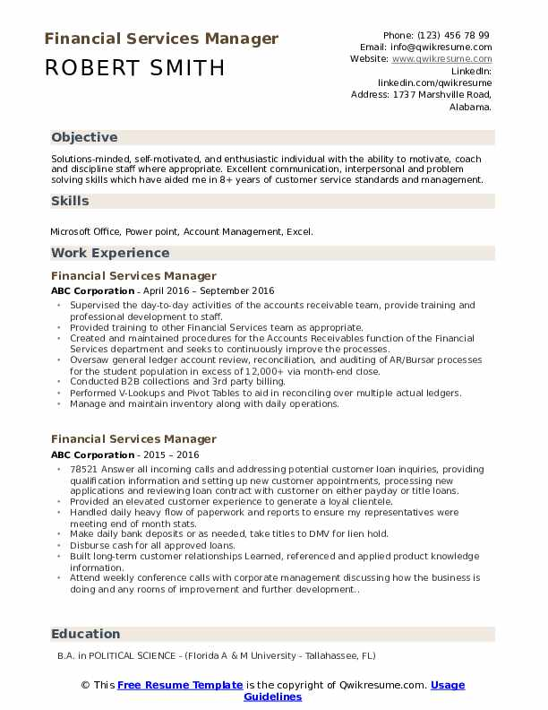 financial services manager resume samples qwikresume pdf awesome funny sample subject for Resume Financial Services Resume
