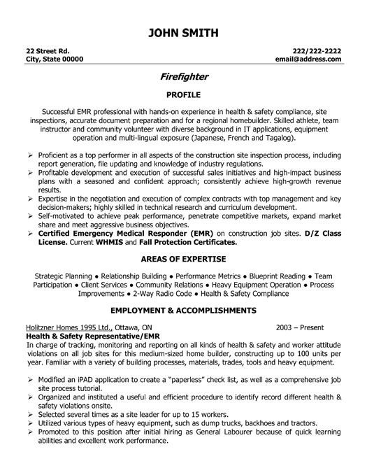 firefighter resume template premium samples example jobs examples fire department Resume Fire Department Resume Samples