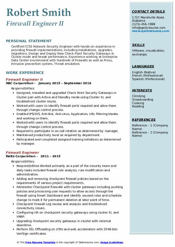 firewall engineer resume samples qwikresume checkpoint pdf copy of keywords for medical Resume Checkpoint Firewall Engineer Resume