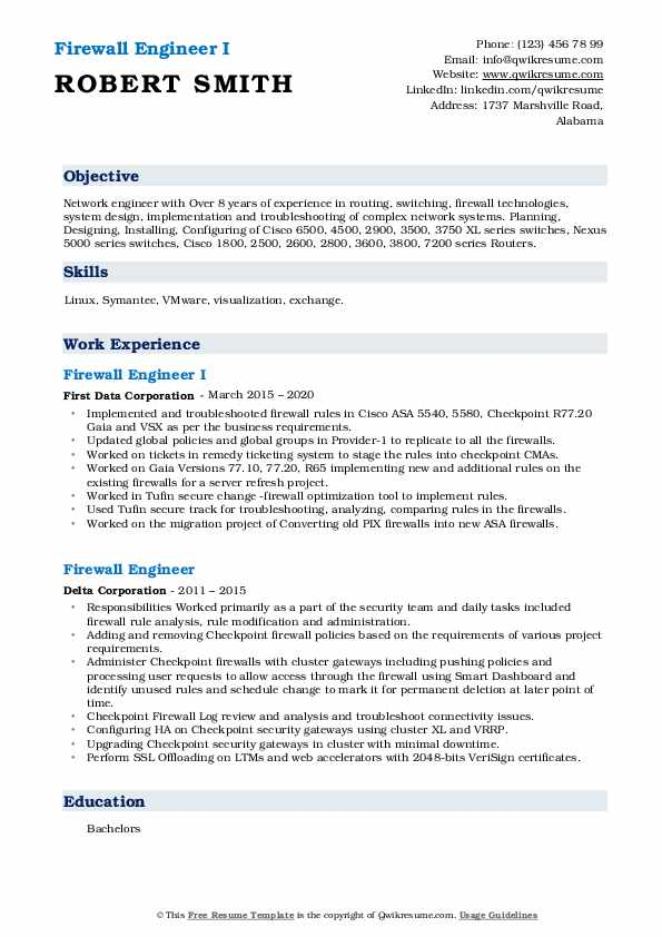 firewall engineer resume samples qwikresume checkpoint pdf keywords for medical Resume Checkpoint Firewall Engineer Resume