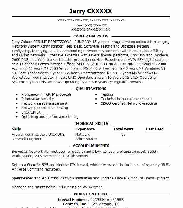firewall technician resume example check point software inc irving experience purchasing Resume Firewall Experience Resume