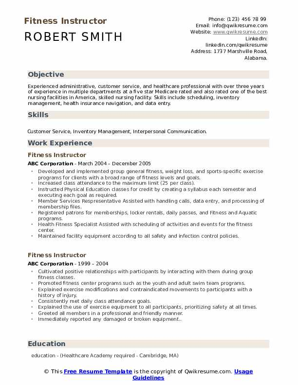 fitness instructor resume samples qwikresume for gym trainer job pdf description helper Resume Resume For Gym Trainer Job