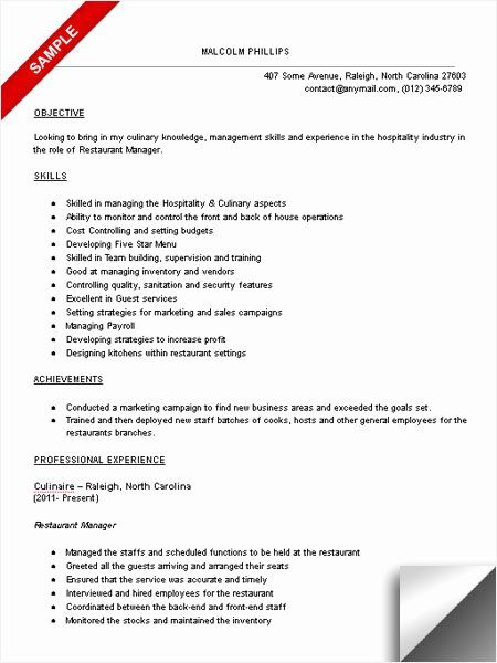 food service resume objective examples new restaurant manager sample limeresumes in Resume Restaurant Resume Objective