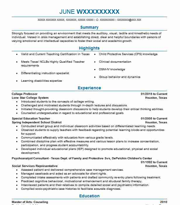 for college professor resume samples format academic examples gis analyst sample cover Resume College Professor Resume