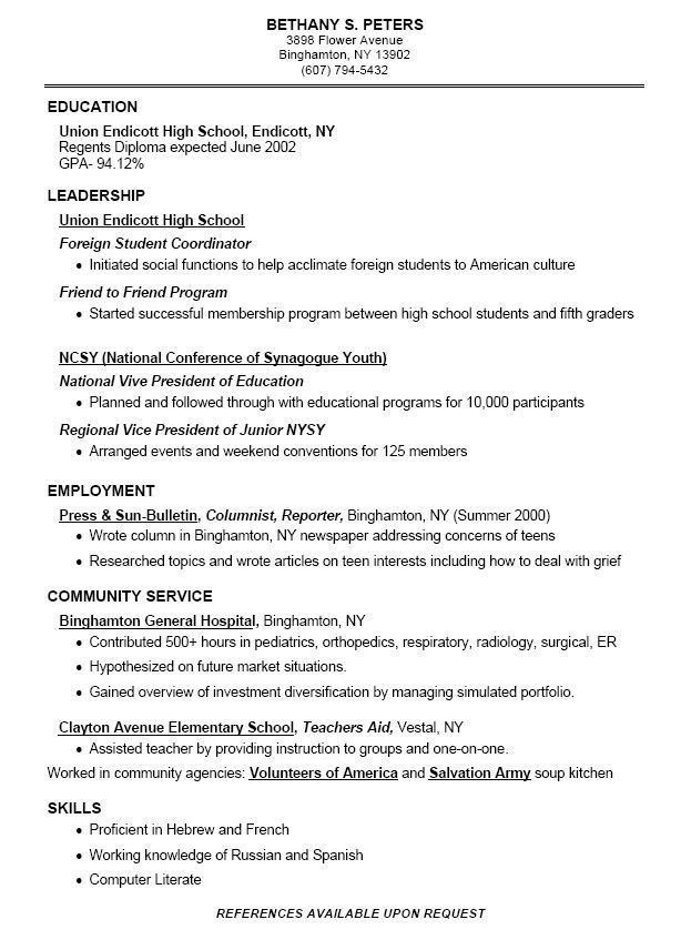 for good high school resume format teenage inventor beginners with little experience Resume High School Teenage Resume