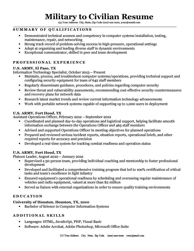 for military resume samples format examples high school senior scholarship simple Resume Military Resume Examples 2020