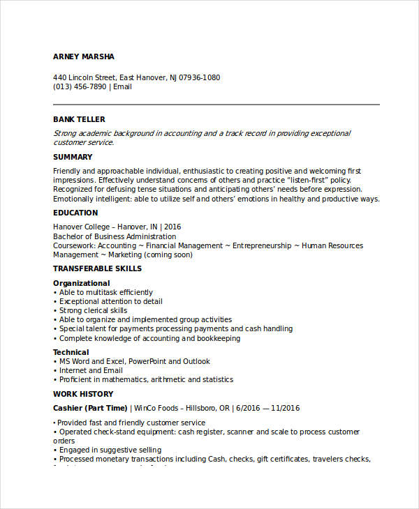 for resume banking jobs format bank job best writing service solar title your entry level Resume Resume Format For Bank Job