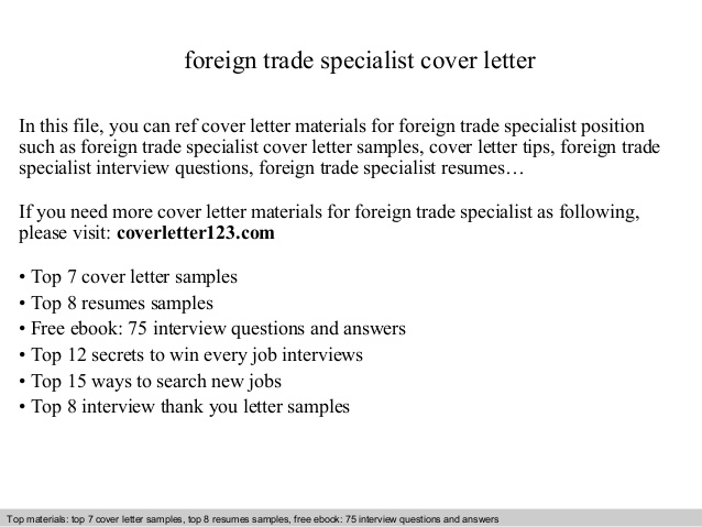 foreign trade specialist cover letter international resume sample skills based template Resume International Trade Specialist Resume Sample