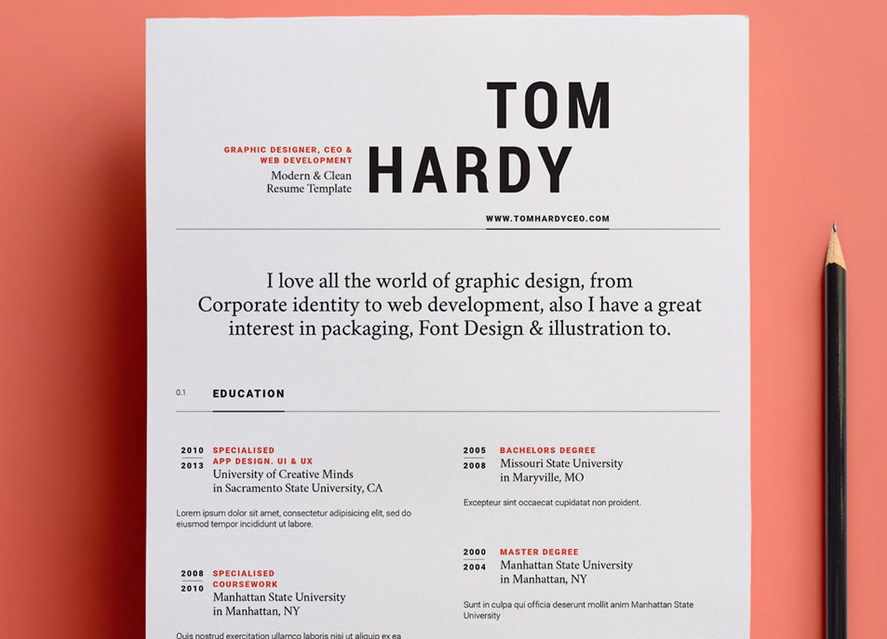 free and beautifully designed resume templates designmodo modern simple template float Resume Modern Simple Resume Template