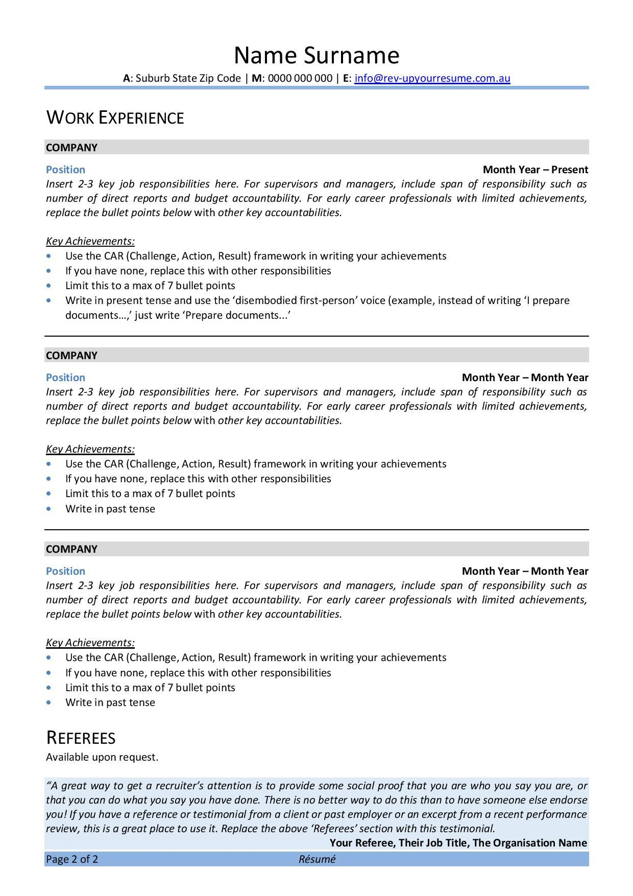 free australian resume template rev up your writing style examples covid mulesoft indeed Resume Resume Writing Australian Style Examples