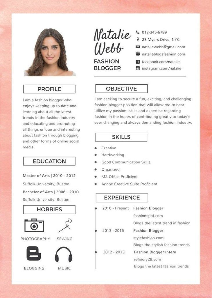free best fashion resume cv template in photoshop kreatif desain fun templates web and Resume Fun Resume Templates Free