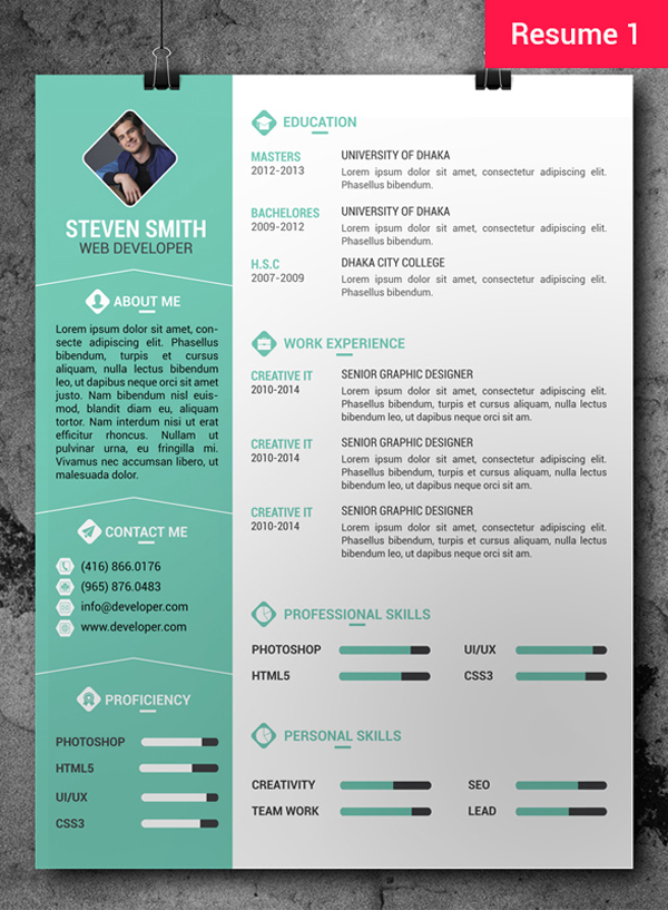 free cv resume templates freebies graphic design junctiongraphic junction photoshop Resume Photoshop Resume Template