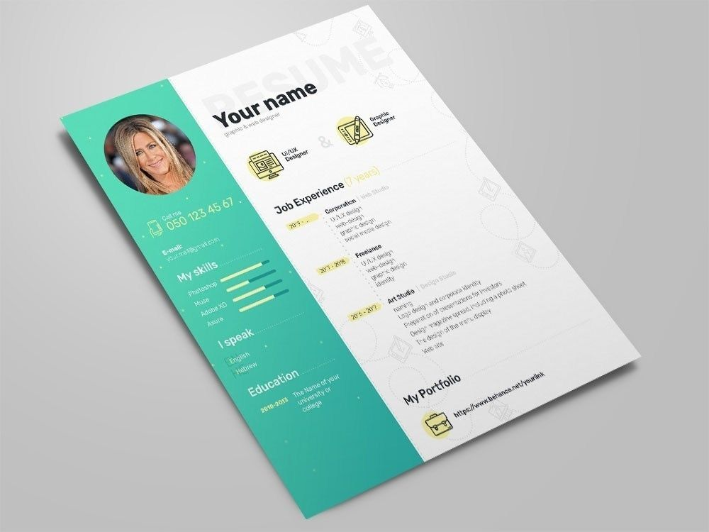 free elegant photoshop resume template with clean design creative best templates sample Resume Photoshop Resume Template