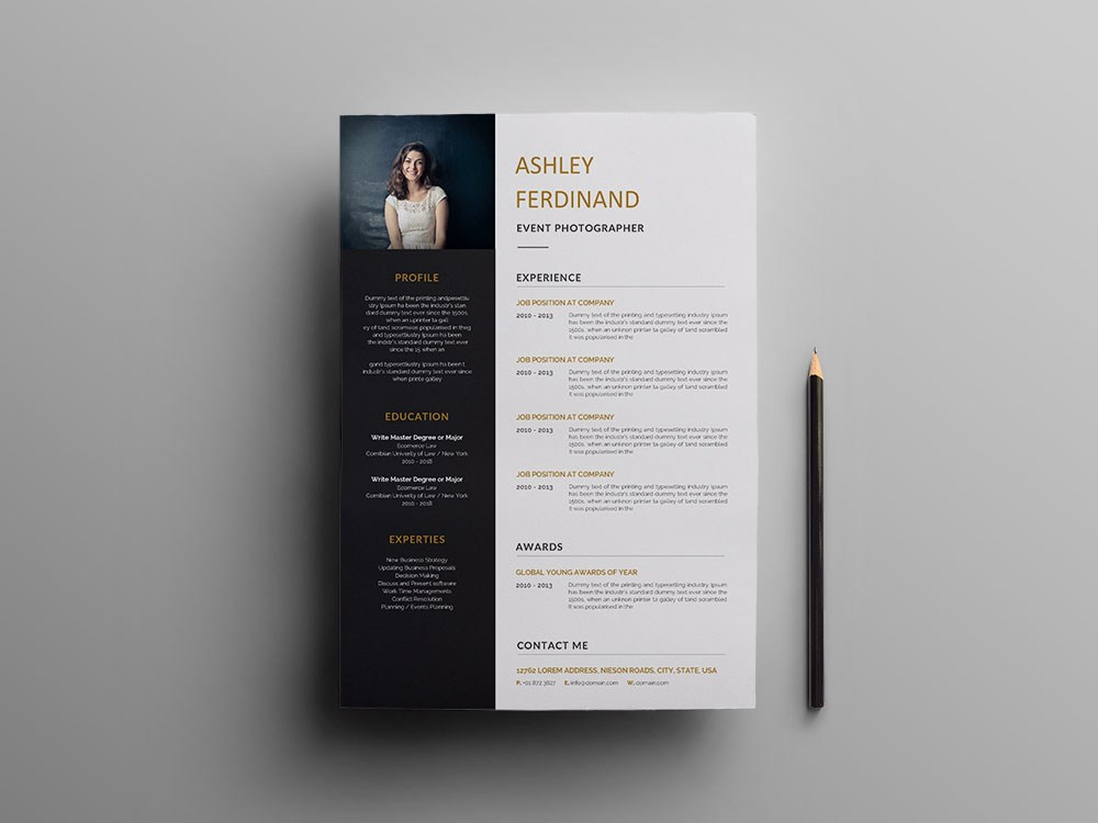 free event photographer resume template with professional look recommended format non Resume Photographer Resume Template