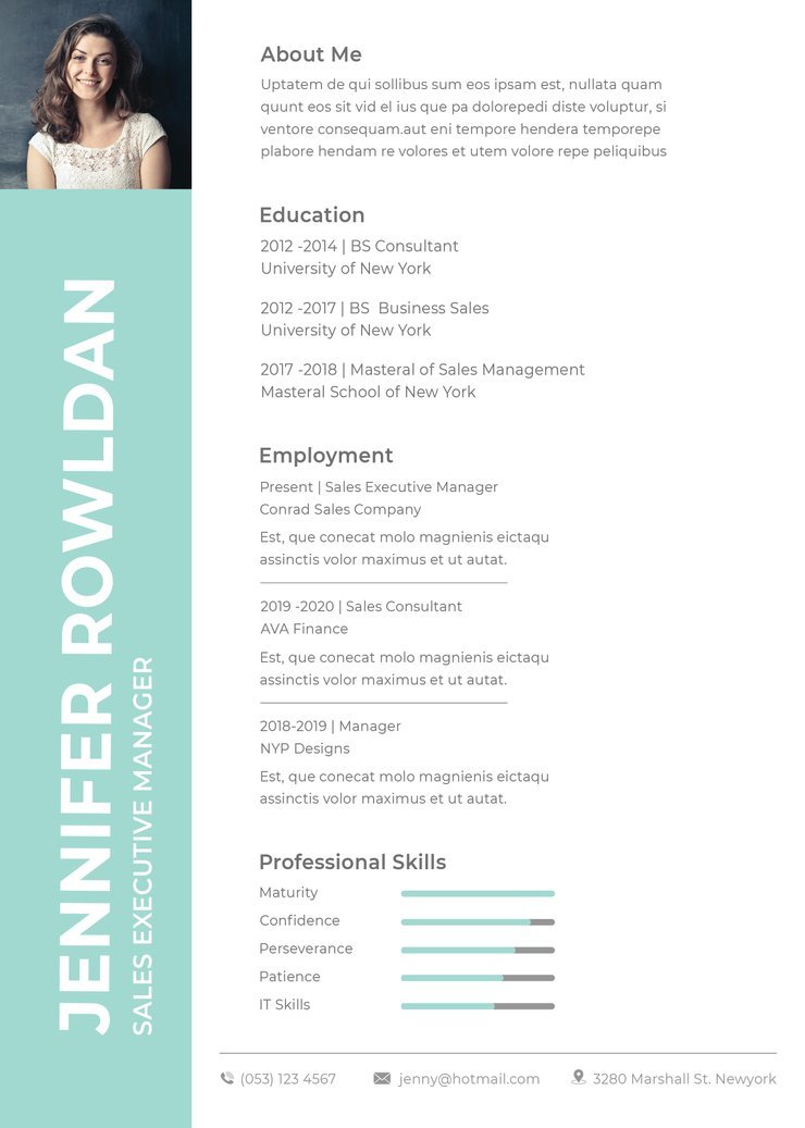 free executive resume cv template in photoshop and microso creativebooster format Resume Executive Resume Template 2020 Free