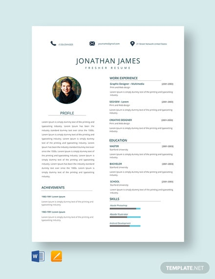 free fresher resume templates microsoft word template net for fresh graduate it high end Resume Resume Template For Fresh Graduate Free Download