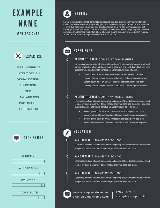 free infographic resume templates downloadable lucidpress creative excellent writing tips Resume Creative Infographic Resume