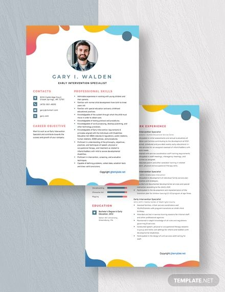 free intervention specialist resume template in word medical externship ssis for years Resume Early Intervention Specialist Resume