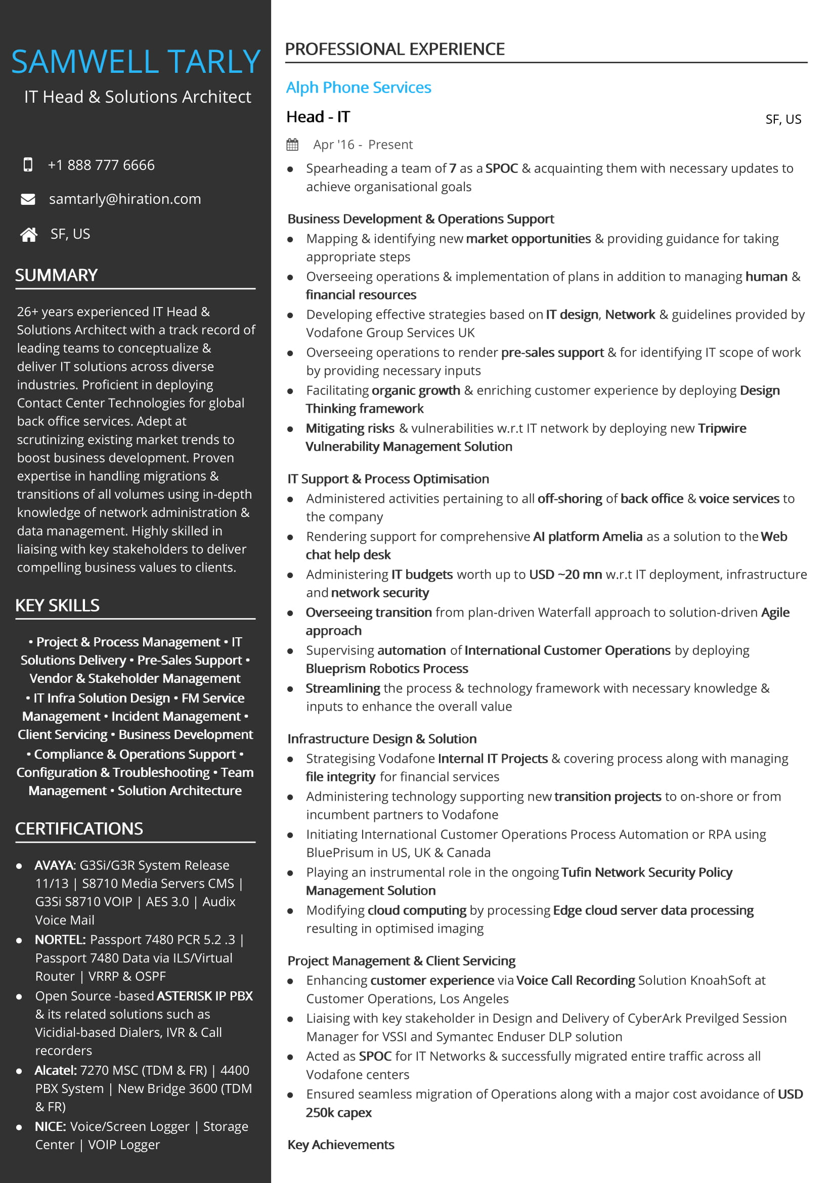 free it head solutions architect resume sample by hiration solution dunkin donuts skills Resume Solution Architect Resume