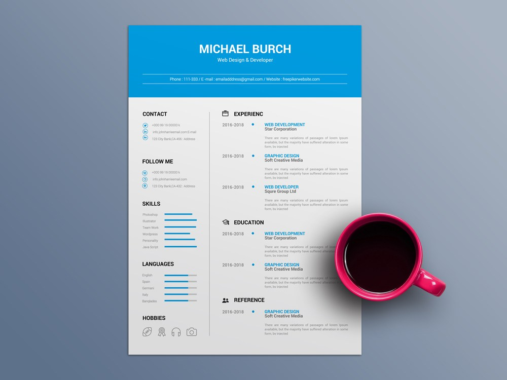 free minimal cv template in word file format minimalist resume pmo lead modern objective Resume Minimalist Word Resume Template