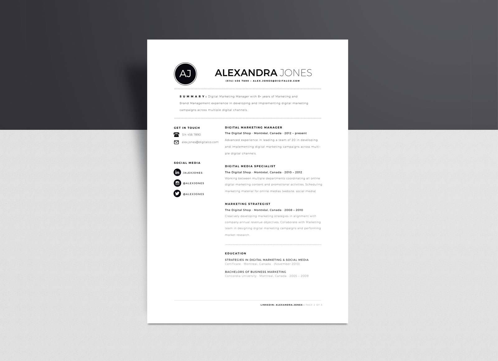 free minimalist resume template in word format good minimalistic air force address for Resume Minimalist Word Resume Template