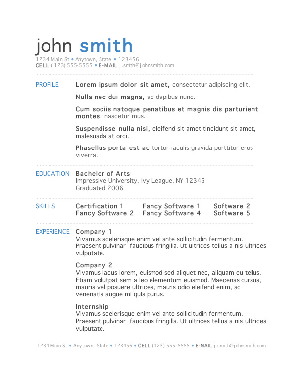 free modern resume templates for word microsoft john template strong verbs assessment Resume Microsoft Resume Templates Free