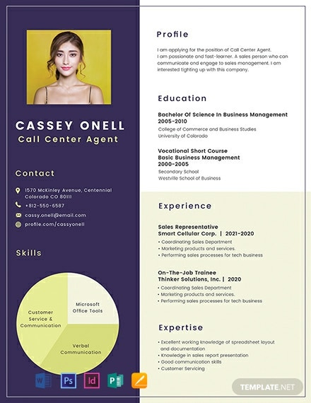 free no experience call center resume cv template word indesign apple mac publisher Resume Experience Call Center Resume