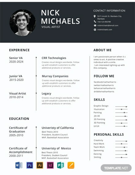 free one resume templates word indesign apple publisher illustrator template net with Resume One Page Resume Template With Photo Free Download