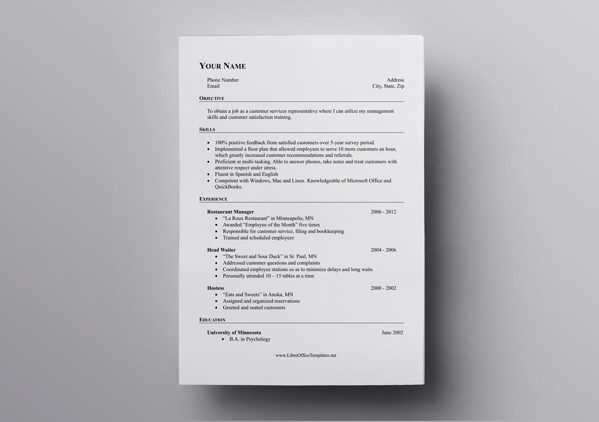 free openoffice resume templates also for libreoffice template open office internal Resume Libreoffice Resume Template