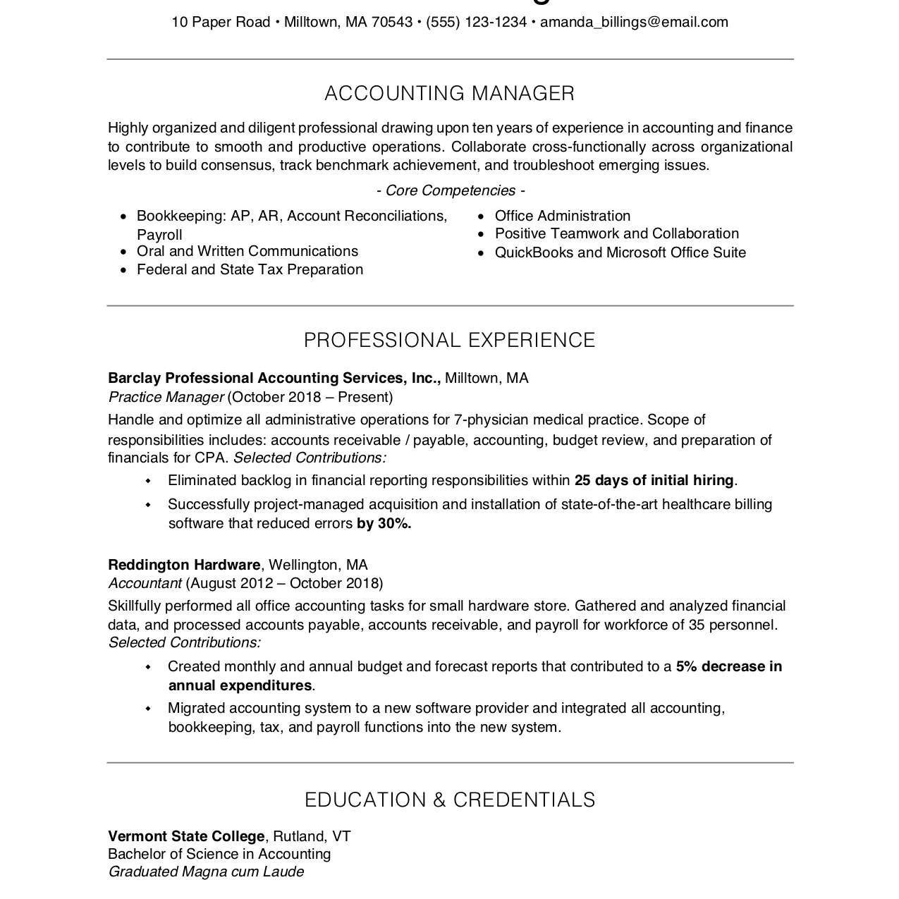 free professional resume examples and writing tips example of for 2063596res1 proper Resume Example Of A Professional Resume For Free