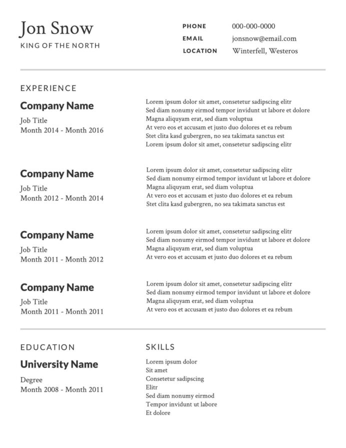 free professional resume templates downloadable lucidpress example of for 2x title Resume Example Of A Professional Resume For Free