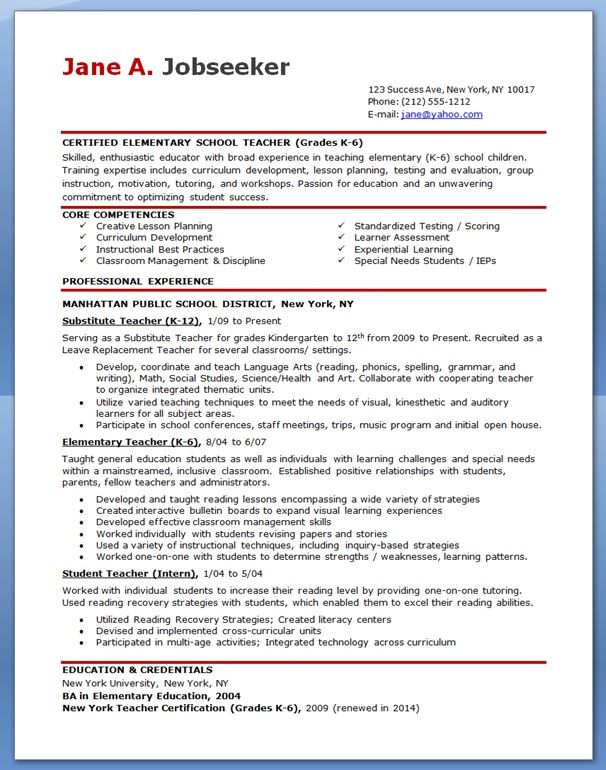 free professional resume templates downloads elementary teacher teaching template Resume Elementary Teacher Resume