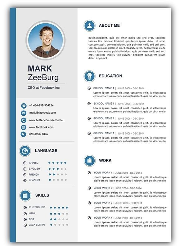 free resume cv templates for microsoft word template best modern par chapitre ville Resume Resume Template Word 2020 Free Download