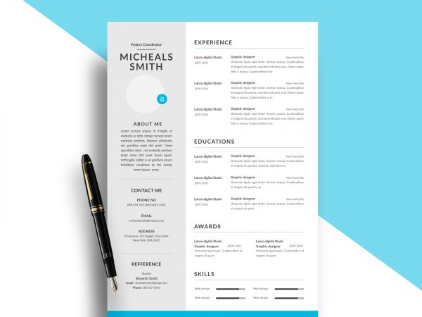 free resume cv templates in photohsp format modern template 600x450 options pharmacy Resume Resume Templates 2020 Free
