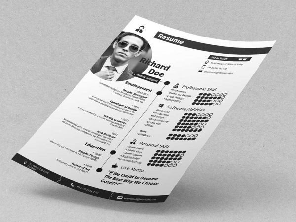 free resume cv templates in photohsp format photoshop template 600x450 basic sample word Resume Photoshop Resume Template