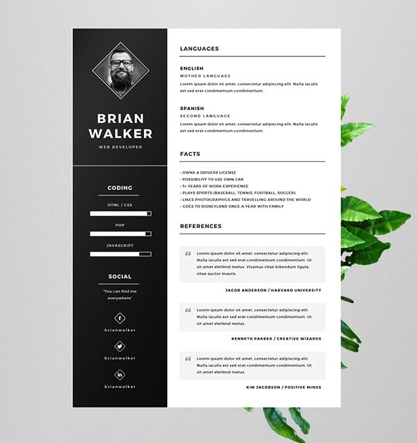 free resume template for word photoshop illustrator property manager examples fabrication Resume Photoshop Resume Template