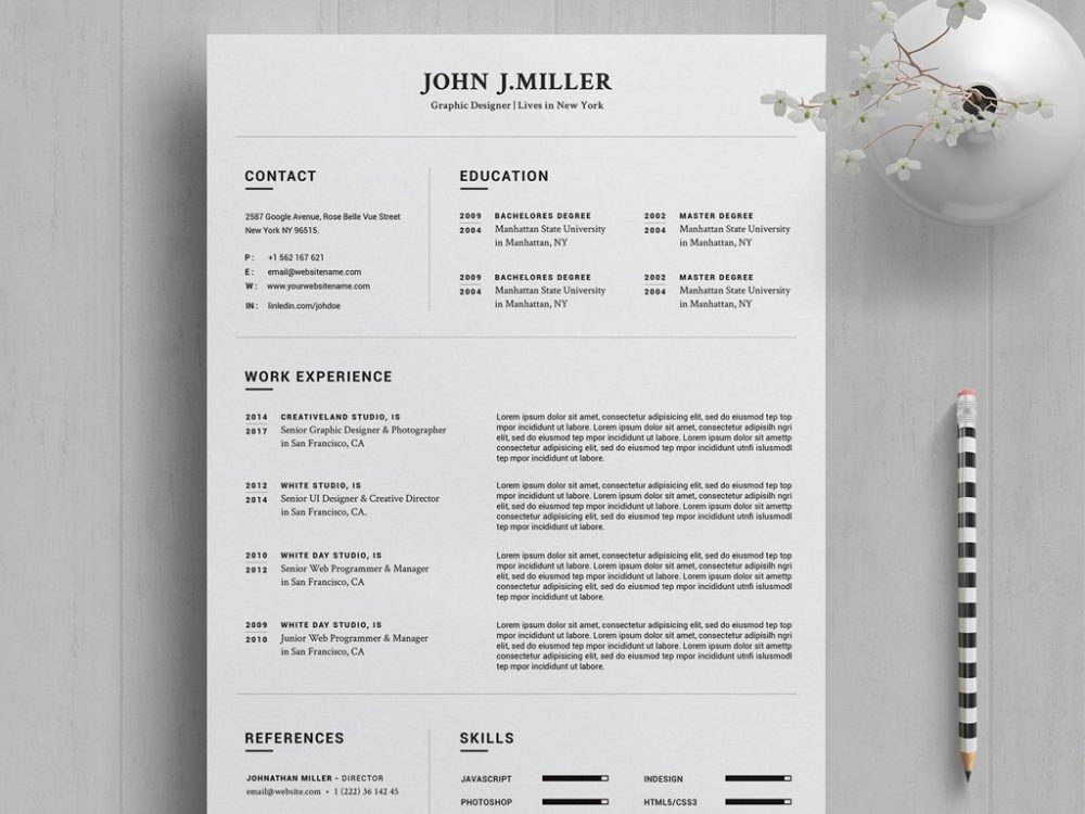 free resume template in word year resumekraft updated 1000x750 writing services kitchener Resume Updated Resume Template 2020