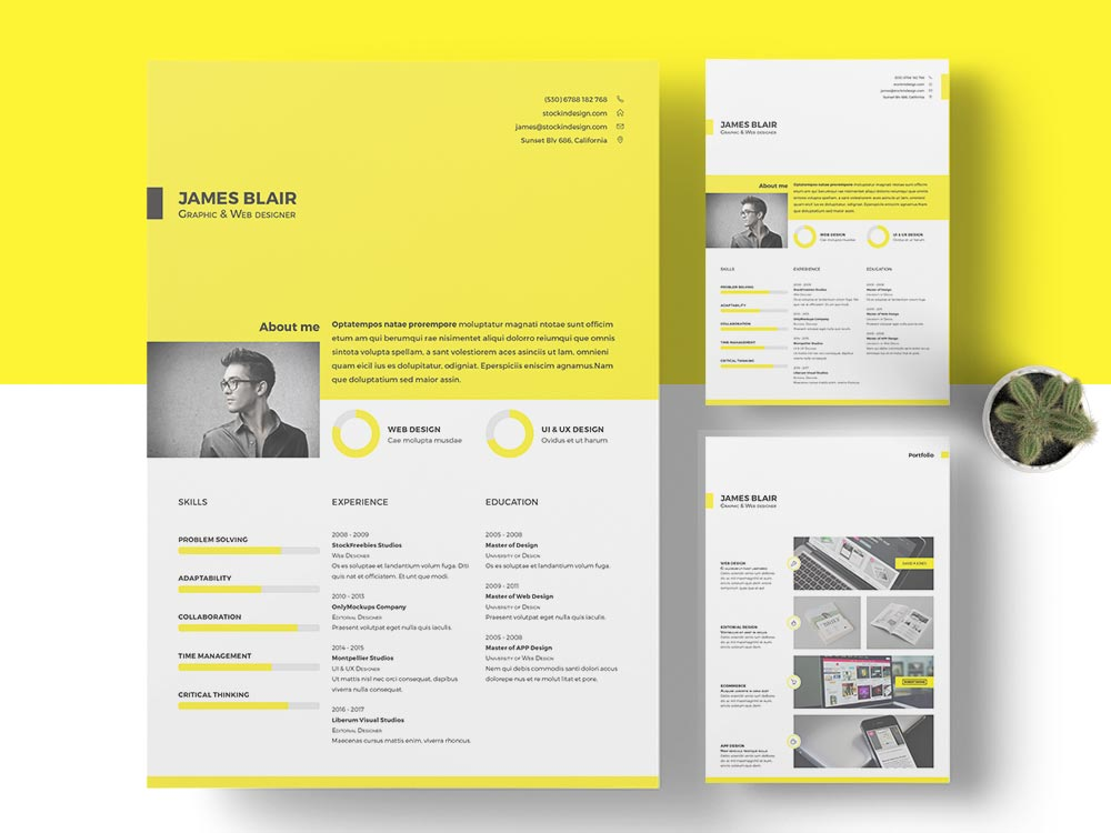 free resume template indesign templates header tips for making self motivated sample Resume Resume Indesign Template Free Download