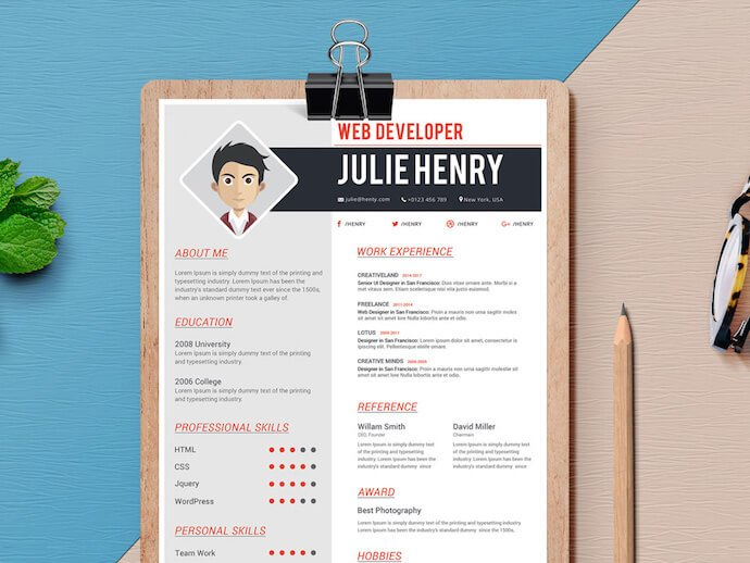 free resume templates for microsoft word to make your own one template with photo fresh Resume One Page Resume Template With Photo Free Download