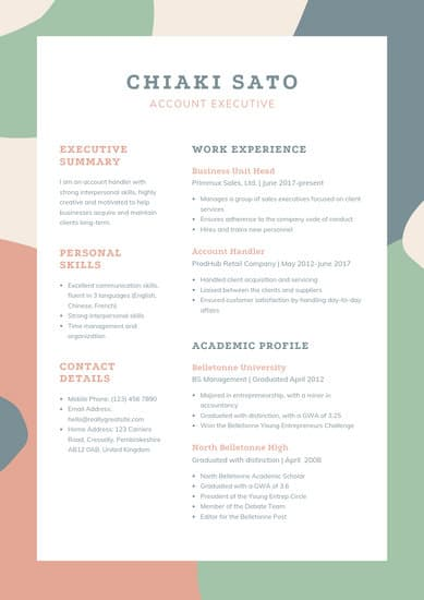 free resume templates for microsoft word to make your own template fresh graduate canva Resume Resume Template For Fresh Graduate Free Download