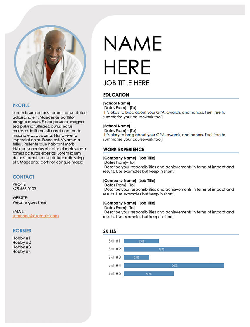 free resume templates for open office libreoffice and ms word template blue grey modern Resume Libreoffice Resume Template
