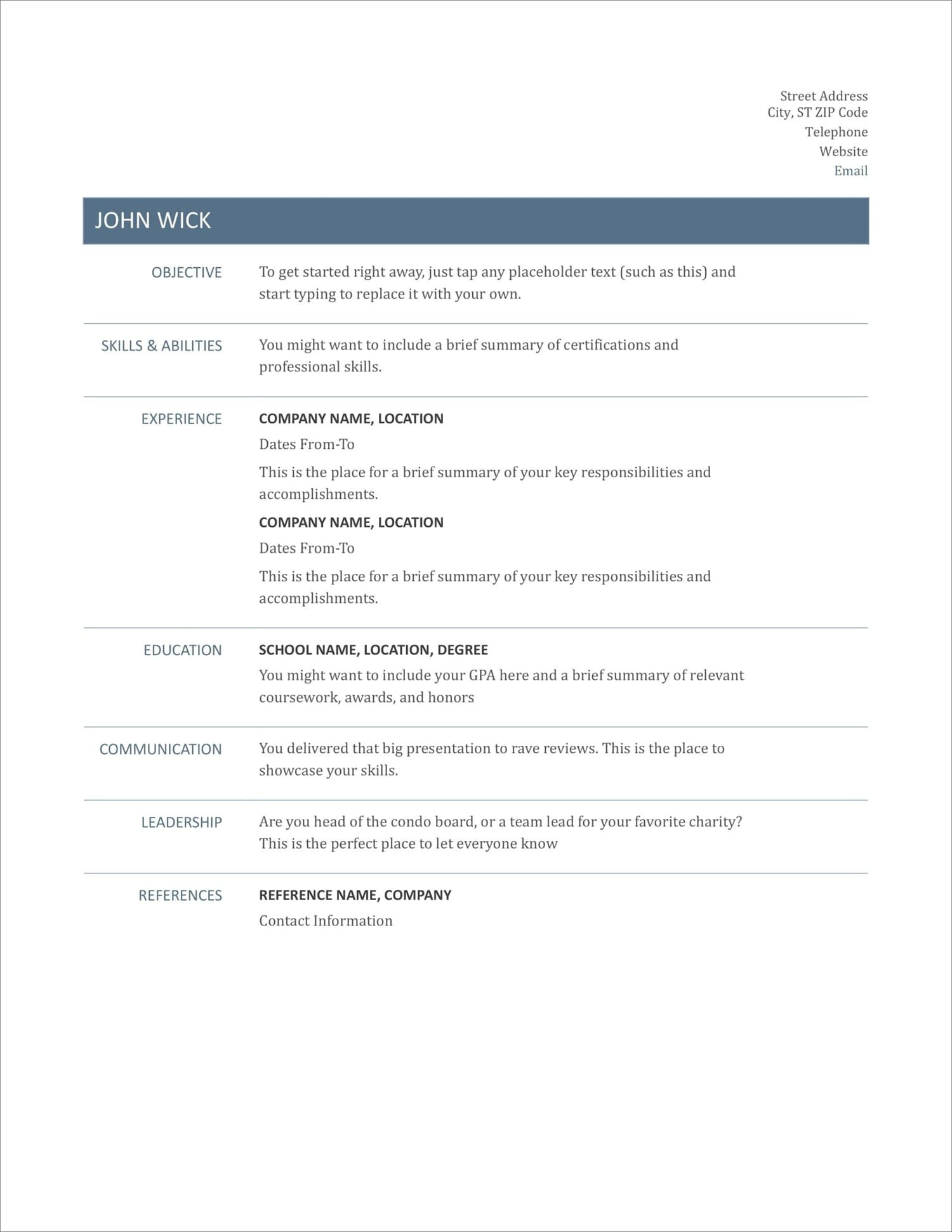 free resume templates for to now medical microsoft word new construction project manager Resume Free Medical Resume Templates Microsoft Word
