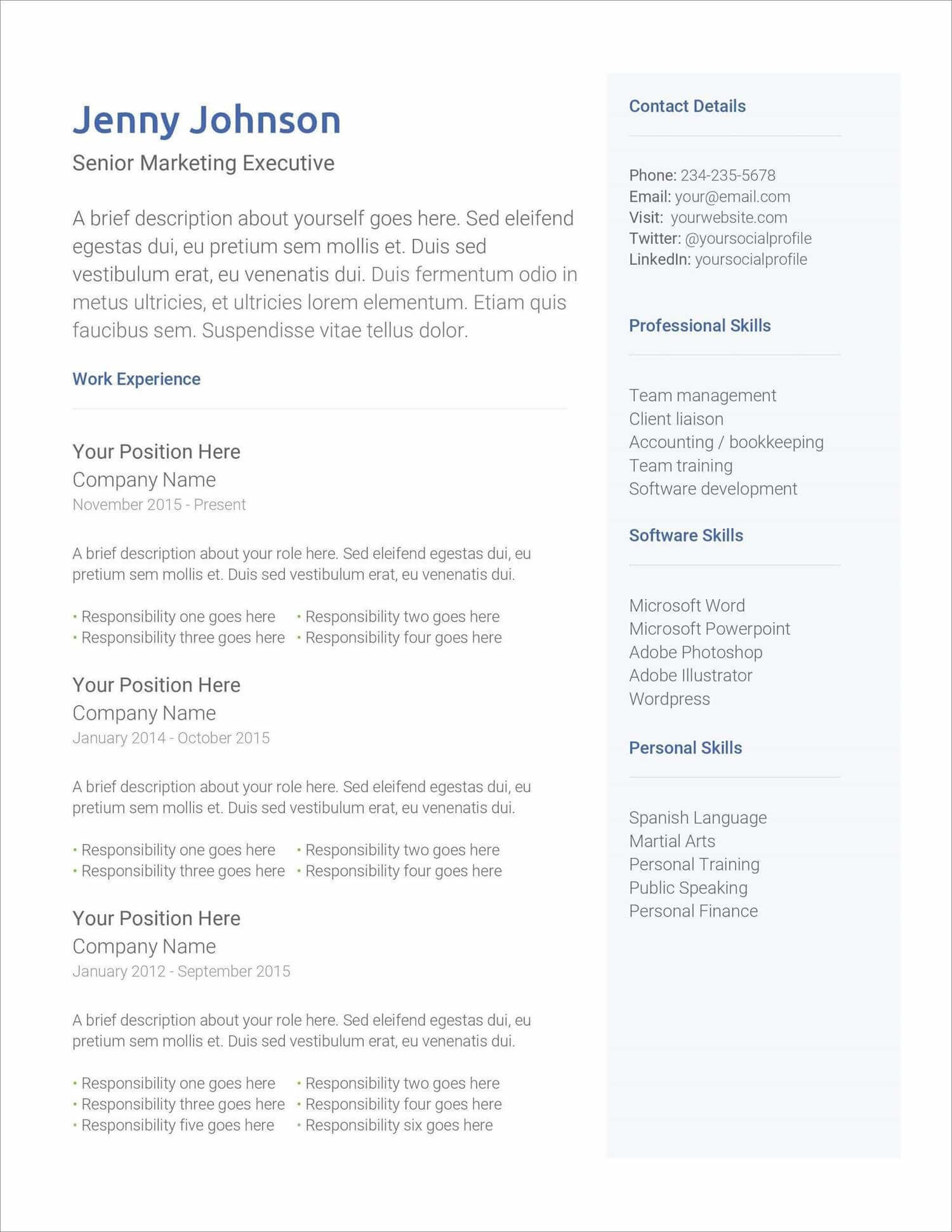 free resume templates for to now microsoft new strong verbs profile section of medical Resume Microsoft Resume Templates Free